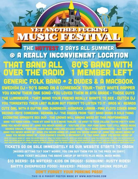 Yet another music festival