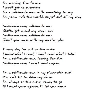 Ur selfmade lyrics