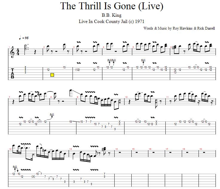 The Thrill is Gone - GuitarVibe.com